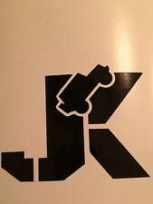 JEEP Wrangler Fender Hood Vinyl Decal Sticker Set JK Wrangler Sahara Rubicon.