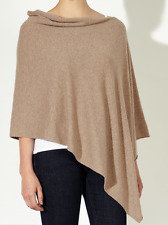 Bnwt John Lewis Pure Cashmere Poncho In Natural - One Size - RRP £99