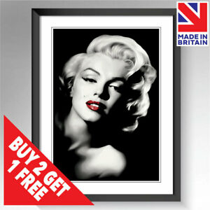 Marilyn Monroe Print Poster Framed Wall Art Fashion Beauty Salon A5 A4 A3 Sizes