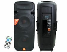 Mr Dj Pbx-6000 Bt Dual 15' 3-way Portable Speaker with Built-in Bluetooth