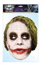 The Joker Official Batman 2D Card Party Face Mask Fancy Dress Up Heath Ledger