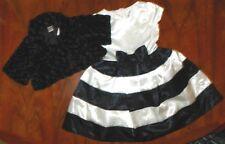Dressy Dress Set Gymboree 2pc Black n Ivory Girl size 6 New Party Wedding