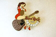 CARDIFF,Hard Rock Cafe Pin,SEXY Girl on Guitar with Football