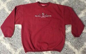 Vintage NC State Wolfpack Crewneck Sweatshirt Red Size Large Cadre 55/45
