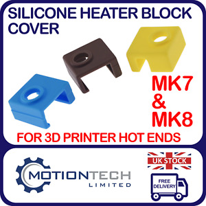 Heater Block Silicone Cover For Creality Ender 3/5 CR-10S V7 & V8 Hot ends