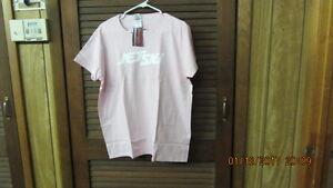 NWT LARGE Kawasaki Womens Jet Ski  Pink Tee Shirt White Logos FREE SHIPPING!!!