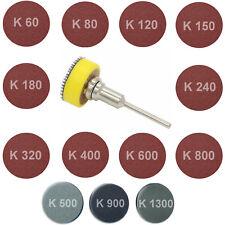 Schleifscheibe Schleifteller Schleifpapier 25mm Dremel Proxxon Körnug 60 -> 1300