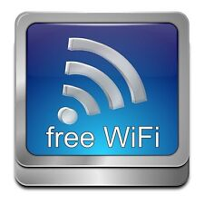 Free Wifi Here Sticker Decal Graphic Vinyl Label V3