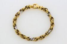P.441-585er G-Weißgold armband Lang 19 cm Breit 6 mm Gewicht 12,8 Gramm