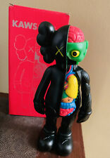 """BRAND NEW KAWS COMPANION BLACK Flayed Open Edition 8"""" Figure Half Dissected"""