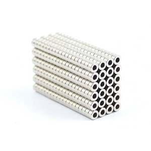 N35 4 mm dia x 2 mm dia x2mm tiny Neodymium ring magnets craft DIY MRO SMALL PKS