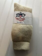 NIP men's DSCP creme / off white wool socks - SIZE 9
