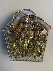 Toffee Candies Gold Gift Basket - Ships SuperFast Priority