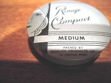 Beautiful Vintage  deco Rouge Compact  Powder  medium