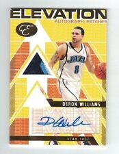 DERON WILLIAMS 2007-08 Topps Bowman Elevation PATCH AUTO #9/15 Autograph Patches