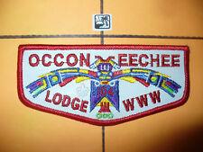 OA Occoneechee Lodge 104,F15,2010 Faux Leather T-Bird Flap,FDL,Durant,Council,NC