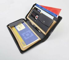 Leatherite Black And Grey Cheque Book Holder Document Folder ,Black & Grey