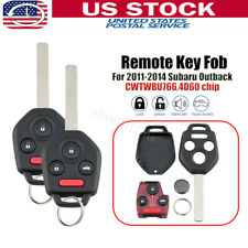 CWTWB1U811 4D 60 Chip RDBS Key Fob Entry Remote Fit for Subaru Outback//Legacy 2011 2012 2013 2014