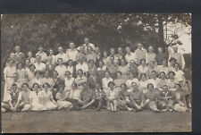 Ancestors Postcard - Large Group of People, Ryde, Isle of Wight? RS5036