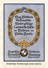 Bayerische Motorenwerke München Motore BMW Flugzeug Boot Plakat  Motor A1 316