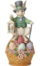 Jim Shore Enesco Easter Bunny with Lantern Statue 19.5 Inches Tall 6005918