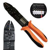 FUJIYA Multipurpose Crimper Cable Wire Stripper Cutter some Terminals Japan FA
