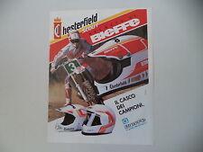 advertising Pubblicità 1991 CASCO HELMET BIEFFE CHESTERFIELD SCOUT MX