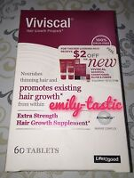 * NIB Viviscal Extra Strength 60 Tablets Hair Growth Program Women Exp JAN 2021