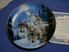 Lee Kromschroeder Wolf Plate Call of the Wild Moonlit Symphony 1st Issu Bradford