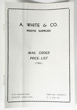 PHOTOGRAPHICA A WHITE   CO. PHOTO SUPPLIES MAIL ORDER PRICE LIST 1964