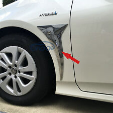 Fit Toyota Prius 2016 2017 Chrome Car Front Outside Air Vent Fender Cover Trim