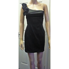 Ladies Zara Black One Shoulder Mini Bodycon Dress Party Club Size S UK 6