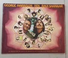 VINTAGE ORIGINAL GEORGE HARRISON 1974 RAVI SHANKAR CONCERT PROGRAM V17