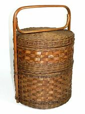 Vintage 2 Tier Woven Basket