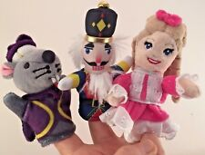 Finger Puppets Nutcracker Ballet Mouse,Nutcracker and Clara