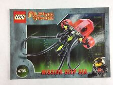 Lego Alpha Team Mission Deep Sea - Set 4796 Instructions / Manual / Only