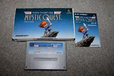Super Famicom-Mystic Quest-NINTENDO SNES-complet-boxed + MANUAL-très bon état