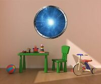 "24"" Porthole Space Window WARP LIGHT SPEED #2 SILVER Wall Decal Sticker Graphic"