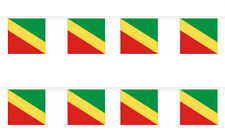 Republic of the Congo 12x18 Bunting String Flag Banner (8 Flags)