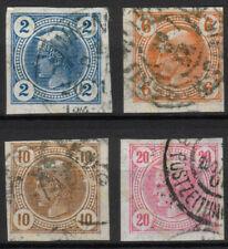 Österreich Nr. 101-104 gestempelt Merkurkopf Zeitungsmarken 1901 mit Lackstreife