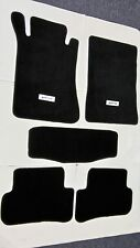 For 01-07 Benz W203 C-Class Floor Mats Carpet Front Rear Black Nylon W/ Emblem 2