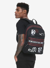 d26f1e81461f Supernatural Patches Pin Double Zipper Backpack School Book Bag Winchester  Bros.
