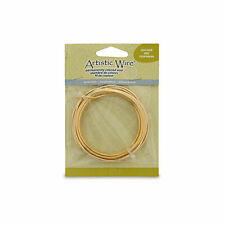 Artistic Wire, 16 Gauge (1.3 mm), Silver Plated, Gold Color, 10 ft (3.1 m)