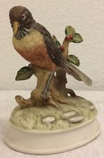 Vintage Gorham Porcelain Bird Music Box