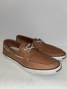 Converse JACK  PURCELL Tan Loafer Slip-On Moccasin Boat Mens Shoes 11 US