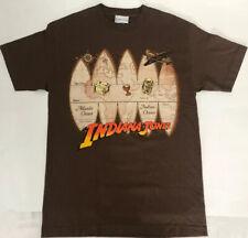 RARE Vintage Indiana Jones Disneyland Paris T Shirt Brown Small Medium S-M