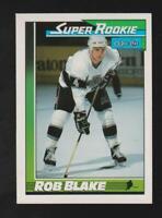 1991-92 Topps O-PEE-CHEE #6 Rob Blake rookie card, Los Angeles Kings HOF, NICE!