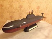 1/350 Soviet/Russian Akula attack class submarine complete model