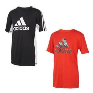 adidas Boys' Youth Performance Tees, 2-Pack - BLACK, RED   Med  10/12  NWOT