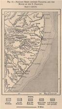 Pernambuco/Alagoads coast. Reefs from Paraiba-Sao Francisco. Brazil 1885 map
